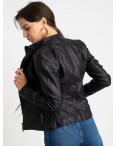 2015 куртка черная женская из кожзама (5 ед. размеры: S.M.L.XL.XXL) : артикул 1123232