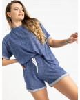 1444-2 Mishely электрик женский спортивный костюм с шортами (4 ед. размеры: S.M.L.XL): артикул 1120071