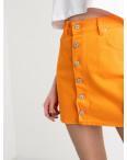 2854-1 XRay юбка на пуговицах оранжевая котоновая (6 ед. размеры: 34.34.36.36.38.40): артикул 1118974