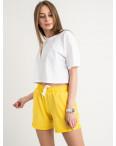 1422-3 Mishely шорты женские желтые из двунитки (4 ед. размеры: S.M.L.XL): артикул 1122383