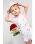 17062 Emotion Kids розовый комплект (комбинезон+шапочка) на девочку 1-9 мес. (6 ед. размеры: 62.62.68.68.74.74): артикул 1118182