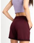 1422-22 Mishely шорты женские бордо из двунитки (4 ед. размеры: S.M.L.XL): артикул 1123383
