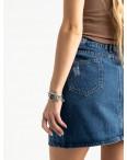 0028-054 Arox юбка полубатальная синяя котоновая (6 ед. размеры: 42.44.46.46.48.50): артикул 1118549
