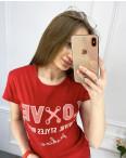 2518-3 Akkaya красная футболка женская с принтом стрейчевая (4 ед. размеры: S.M.L.XL): артикул 1119802