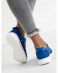 9585-1 синие женские кроссовки (8 ед. размеры: 36.37.38.38.39.39.40.41): артикул 1118301