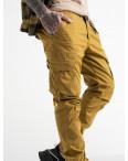 8956-14 песочные брюки карго мужские стрейчевые (4 ед. размеры: 30.32.33.36): артикул 1114481