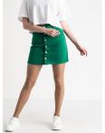 2854-3 XRay юбка на пуговицах зеленая котоновая (6 ед. размеры: 34.34.36.36.38.40): артикул 1118956