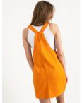 2907-7  Defile сарафан джинсовый оранжевый котоновый  (7 ед. размеры: 34/2.36/2.38/2.40) : артикул 1122048