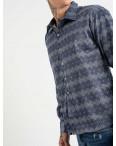 19202 ikoras синяя рубашка с рисунком (4 ед. размеры: M.L.XL.2XL): артикул 1118468