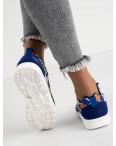 9585-3 синие женские кроссовки (8 ед. размеры: 36.37.38.38.39.39.40.41): артикул 1118302