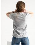 2581-5 серая футболка женская с принтом (3 ед. размеры: S.M.L): артикул 1119204