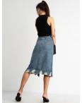 0564 KT.Moss юбка женская голубая котоновая  (6 ед. размеры: S.M/2.L/2.XL): артикул 1123392