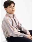 1906 Boston Public бежевая рубашка в полоску на мальчика 7-15 лет (5 ед. размеры: 30/31.32/33.33/34.34/35.35/36): артикул 1118414