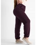 14870-6 Mishely бордовые брюки спортивные батальные стрейчевые (4 ед. размеры: 50.52.54.56): артикул 1118143