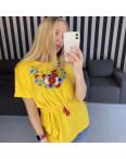 1820 желтая футболка-вышиванка женская микс моделей (5 ед. размеры: S.M.L.XL.2XL): артикул 1121157