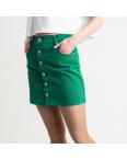 2834 XRay юбка на пуговицах зеленая котоновая (6 ед. размеры: 34.34.36.36.38.40): артикул 1118959