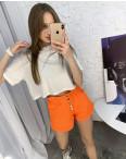 3373-3 Defile шорты джинсовые оранжевые котоновые ( 6 ед. размеры: 34.36/2.38/2.40): артикул 1122209