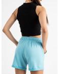 1422-12 Mishely шорты женские бирюзовые из двунитки (4 ед. размеры: S.M.L.XL): артикул 1123371
