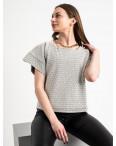 60143 City блузка женская черно-белая трикотажная с узором (40-46, 6 ед.): артикул 1116991