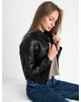 0373 куртка женская укороченная из кожзама (5 ед. размеры: S.M.L.XL.XXL): артикул 1123506