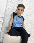 2087 футболка-безрукавка подростковая на мальчика 8-12 лет микс 5-ти цветов (10 ед. размеры: S/3.M/3.L/4): артикул 1121666