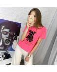 2021-2 футболка розовая женская с принтом (5 ед. размеры: 42.44.46.48.50) : артикул 1122186
