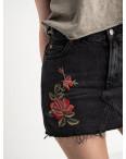 80301 юбка черная котоновая с рисунком (9 ед. размеры: 32.34.36.36.36.38.38.38.40): артикул 1118958