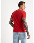 2612-3 красная футболка мужская с принтом (4 ед. размеры: M.L.XL.2XL): артикул 1120968