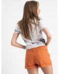 0442 Whats up 90s шорты кирпичные женские стрейчевые (5 ед. размеры: 26.27.28.29.30): артикул 1121878