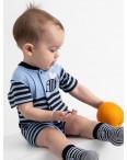 17063 Emotion Kids синий комплект (комбинезон+шапочка) на мальчика 1-9 мес.(6 ед. размеры: 62.62.68.68.74.74): артикул 1118189