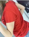 2401-3 красная футболка женская с принтом (4 ед. размеры: S.M.L.XL): артикул 1122358