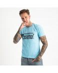 2617-13 голубая  футболка мужская с принтом (4 ед. размеры: M.L.XL.2XL): артикул 1121036