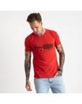 2616-3 красная футболка мужская с принтом (4 ед. размеры: M.L.XL.2XL): артикул 1121024