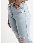 0505-1 Monkey Ride Jeans американка полубатальная голубая стрейчевая ( 6 ед. размеры: 27.28.29.30.31.32): артикул 1122411
