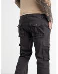 1672-7 Iteno брюки карго мужские серые стрейчевые (4 ед. размеры: 30.31.32.32): артикул 1064489_1