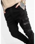 5894 Redman джинсы мужские на резинке черные осенние стрейчевые (8 ед. размеры: 29.30.31.32.32.33.34.36): артикул 1114902