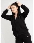 15111-4 черный женский спортивный костюм батальный из двунитки (4 ед. размеры: 50.52.54.56): артикул 1118244