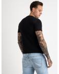 2620-1 черная футболка мужская с принтом (4 ед. размеры: M.L.XL.2XL): артикул 1121051