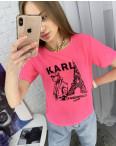 2056-3 футболка розовая женская с принтом (5 ед. размеры: 42.44.46.48.50): артикул 1122377
