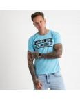 2620-13 голубая футболка мужская с принтом (4 ед. размеры: M.L.XL.2XL): артикул 1121054