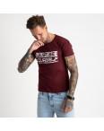 2620-9 бордовая футболка мужская с принтом (4 ед. размеры: M.L.XL.2XL): артикул 1121053
