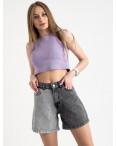 8024 шорты женские серые двухцветные котоновые (8 ед. размеры:25/2.26/3.28/2.30): артикул 1122329