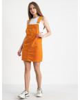 2905 Defile сарафан велюровый оранжевый стрейчевый ( 6 ед. размеры: 34.36/2.38/2.40): артикул 1122039