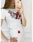 1824 футболка-вышиванка женская микс моделей и цветов (5 ед. размеры: S.M.L.XL.2XL): артикул 1120652