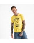 2604-6 желтая футболка мужская с принтом (4 ед. размеры: M.L.XL.2XL): артикул 1120912