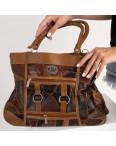 8817 коричневая сумка женская из экокожи (5 ед.): артикул 1123342