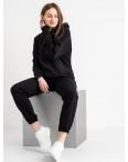 15115-1 черный спортивный костюм женский из двунитки (4 ед. размеры: S.M.L.XL): артикул 1118698