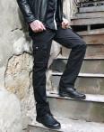 Джинсы карго карманы мужские (черные Iteno): артикул 1087721