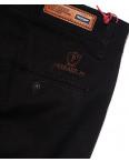 0037-D-34 Feerars брюки мужские батальные с косым карманом черные весенние стрейчевые (32-42, 8 ед.): артикул 1087768