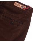 0050-31 Feerars брюки мужские молодежные с косым карманом коричневые весенние стрейчевые (28-36, 8 ед.): артикул 1087772